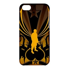 Soldiers Army Line  Apple Iphone 5c Hardshell Case by amphoto