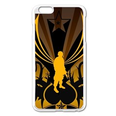 Soldiers Army Line  Apple Iphone 6 Plus/6s Plus Enamel White Case by amphoto