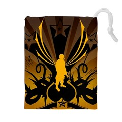 Soldiers Army Line  Drawstring Pouches (extra Large) by amphoto