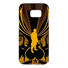 Soldiers Army Line  Samsung Galaxy S7 Edge Hardshell Case by amphoto