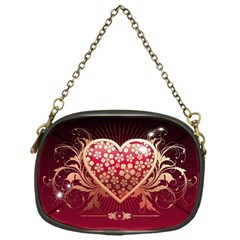 Heart Patterns Lines  Chain Purses (one Side)  by amphoto