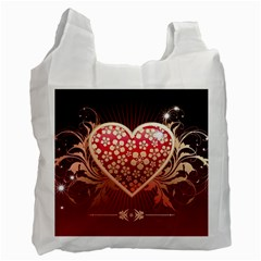 Heart Patterns Lines  Recycle Bag (one Side) by amphoto