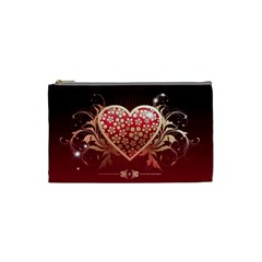 Heart Patterns Lines  Cosmetic Bag (small)  by amphoto
