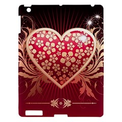 Heart Patterns Lines  Apple Ipad 3/4 Hardshell Case by amphoto