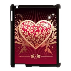 Heart Patterns Lines  Apple Ipad 3/4 Case (black) by amphoto