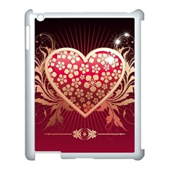 Heart Patterns Lines  Apple Ipad 3/4 Case (white) by amphoto