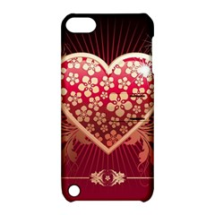 Heart Patterns Lines  Apple Ipod Touch 5 Hardshell Case With Stand by amphoto