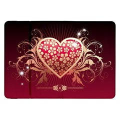 Heart Patterns Lines  Samsung Galaxy Tab 8 9  P7300 Flip Case by amphoto