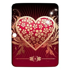 Heart Patterns Lines  Samsung Galaxy Tab 3 (10 1 ) P5200 Hardshell Case  by amphoto