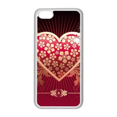Heart Patterns Lines  Apple Iphone 5c Seamless Case (white) by amphoto