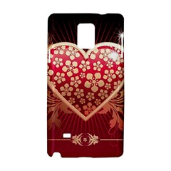 Heart Patterns Lines  Samsung Galaxy Note 4 Hardshell Case by amphoto