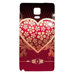Heart Patterns Lines  Galaxy Note 4 Back Case by amphoto