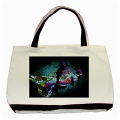 Girl Dress Fly  Basic Tote Bag by amphoto