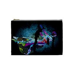 Girl Dress Fly  Cosmetic Bag (medium)  by amphoto