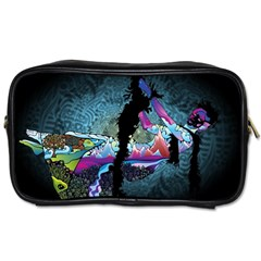 Girl Dress Fly  Toiletries Bags by amphoto