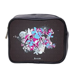 Skulls Ghosts Illustration  Mini Toiletries Bag 2 Side by amphoto