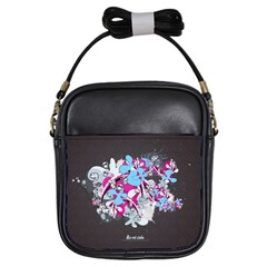 Skulls Ghosts Illustration  Girls Sling Bags by amphoto