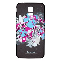 Skulls Ghosts Illustration  Samsung Galaxy S5 Back Case (white) by amphoto