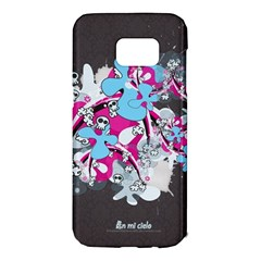 Skulls Ghosts Illustration  Samsung Galaxy S7 Edge Hardshell Case by amphoto