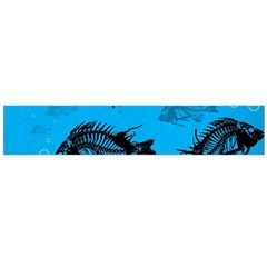 Fish Skeleton Paint  Flano Scarf (large) by amphoto