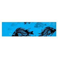 Fish Skeleton Paint  Satin Scarf (oblong) by amphoto