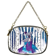Girl Forest Trees Chain Purses (one Side)  by amphoto