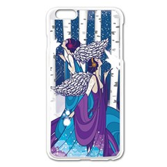 Girl Forest Trees Apple Iphone 6 Plus/6s Plus Enamel White Case by amphoto