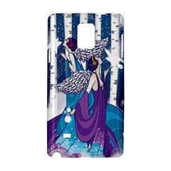 Girl Forest Trees Samsung Galaxy Note 4 Hardshell Case by amphoto