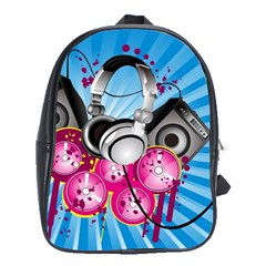 Speakers Headphones Colorful  School Bag (xl) by amphoto
