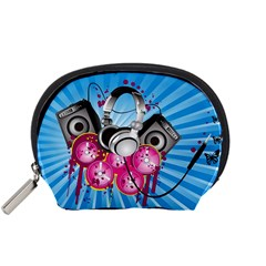 Speakers Headphones Colorful  Accessory Pouches (small)  by amphoto