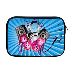 Speakers Headphones Colorful  Apple Macbook Pro 17  Zipper Case by amphoto