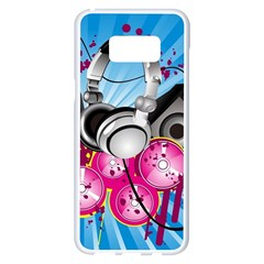 Speakers Headphones Colorful  Samsung Galaxy S8 Plus White Seamless Case by amphoto