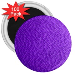 Purple Skin Leather Texture Pattern 3  Magnets (100 Pack)