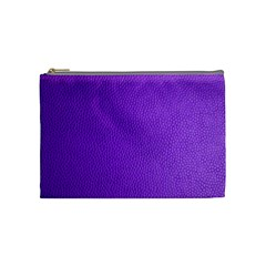 Purple Skin Leather Texture Pattern Cosmetic Bag (medium)