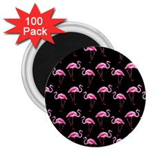 Flamingo Pattern 2 25  Magnets (100 Pack)  by Valentinaart