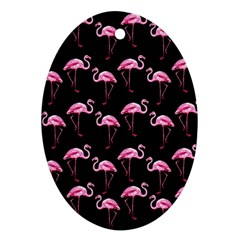 Flamingo Pattern Oval Ornament (two Sides) by Valentinaart