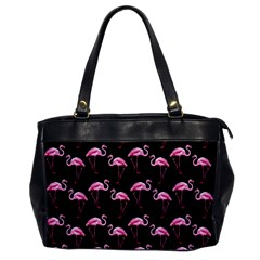 Flamingo Pattern Office Handbags by Valentinaart