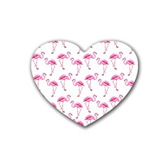 Flamingo Pattern Heart Coaster (4 Pack)  by Valentinaart