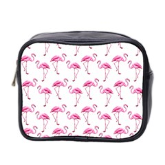 Flamingo Pattern Mini Toiletries Bag 2 Side by Valentinaart