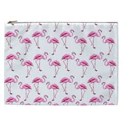 Flamingo Pattern Cosmetic Bag (xxl)  by Valentinaart