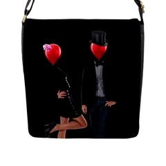 Love Flap Messenger Bag (l)  by Valentinaart