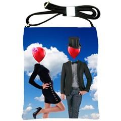 Love Shoulder Sling Bags by Valentinaart