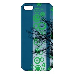 Tree Circles Lines  Apple Iphone 5 Premium Hardshell Case by amphoto