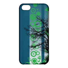 Tree Circles Lines  Apple Iphone 5c Hardshell Case by amphoto