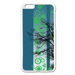 Tree Circles Lines  Apple Iphone 6 Plus/6s Plus Enamel White Case by amphoto
