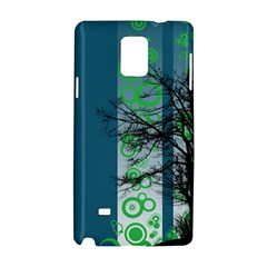 Tree Circles Lines  Samsung Galaxy Note 4 Hardshell Case by amphoto