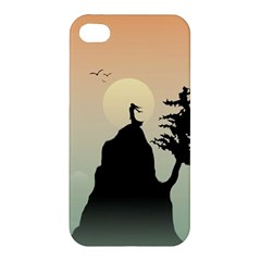 Cliff Mountain Tree  Apple Iphone 4/4s Premium Hardshell Case by amphoto