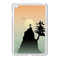 Cliff Mountain Tree  Apple Ipad Mini Case (white) by amphoto