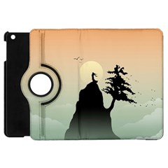 Cliff Mountain Tree  Apple Ipad Mini Flip 360 Case by amphoto