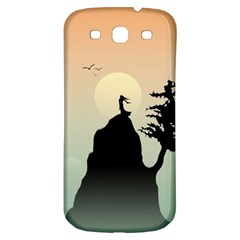 Cliff Mountain Tree  Samsung Galaxy S3 S Iii Classic Hardshell Back Case by amphoto